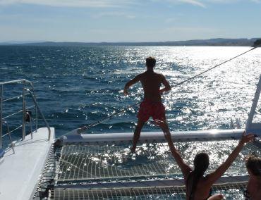 paseo en barco con baño malaga muelle uno